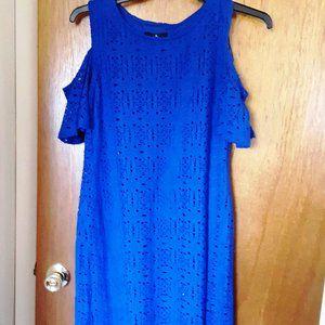 Ronni Nicole Royal Blue Cold Shoulder Lace Dress